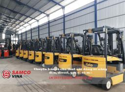 (Tiếng Việt) Xe nâng điện Yale nhập nguyên lô tải trọng 3 tấn, tầm nâng 4.8m