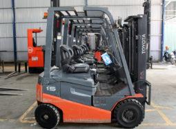 Xe nâng điện Toyota 1.5 tấn nâng cao 3m | Cty Samcovina